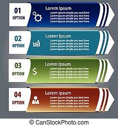 disegno, infographics, etichetta, elemento