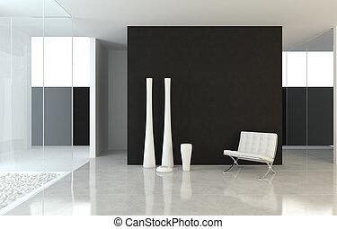 disegno interno, moderno, b&w