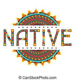 disegno, native., ornament., parola