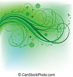 disegno, naturale, verde