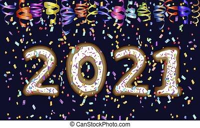disegno, nuovo, 2021, anno