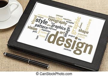 disegno, parola, nuvola, grafico