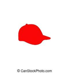 disegno, sagoma, logotipo, berretto, esterno