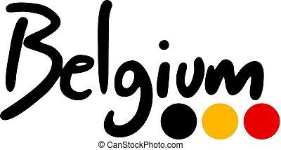 disegno, simbolo, belgio
