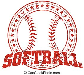 disegno, softball, -, vendemmia