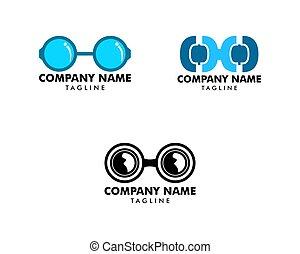 disegno, vettore, occhiali, elementi, logotipo, set