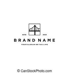 disegno, vettore, ponte, logotipo