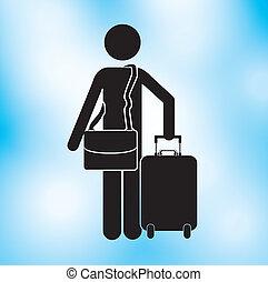 disegno, viaggiatore
