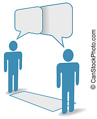 distanza, persone, comunicazione, chiacchierata, sociale, attraverso