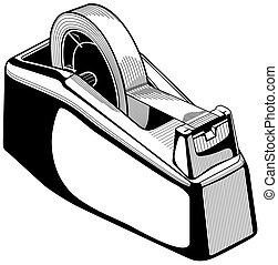 distributore, nastro adesivo