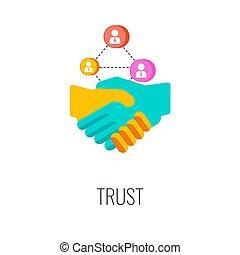 ditta, icon., lealtà, product., fiducia, marca