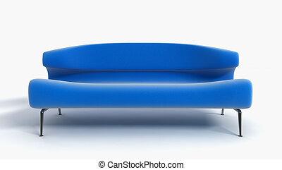 divano, 3d, interpretazione