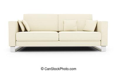 divano, bianco, sopra