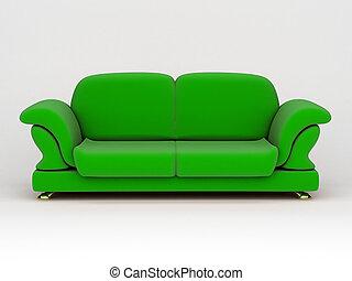 divano, sfondo bianco