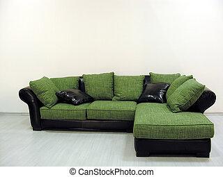 divano, verde