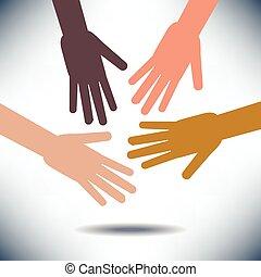 diversità, mani, immagine