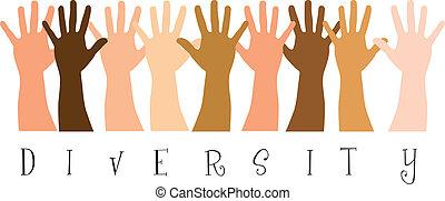 diversità, mani