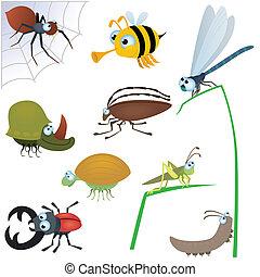 divertente, insetto, set, #2