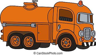 divertente, serbatoio, vecchio camion