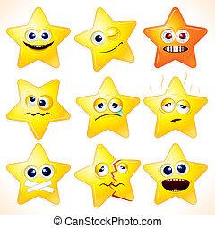 divertente, stelle