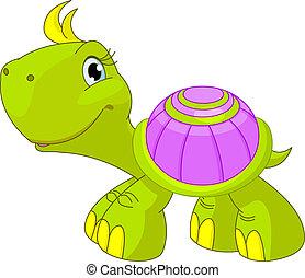 divertente, tartaruga, carino