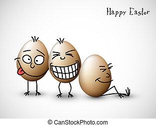 divertente, uova, pasqua