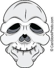 divertente, vettore, maschera, cranio