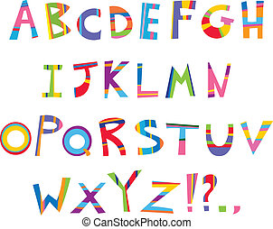 divertimento, alfabeto