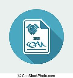 documento, accordo, segno