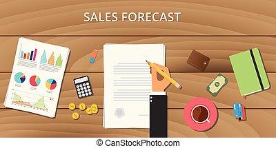 documento, affari, legno, grafico, vendite, illustrazione, carta, previsione, soldi, tavola, segno, uomo