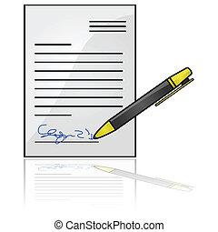 documento, firmato