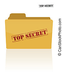 documento, segreto, cartella