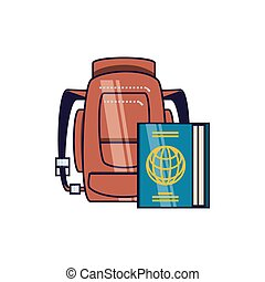 documento viaggio, passaporto, travelbag