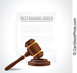 documents., ordine, illustrazione, astenere