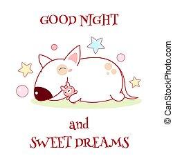 dolce, buono, notte, fare un sogno