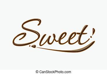 dolce, cioccolato, testo