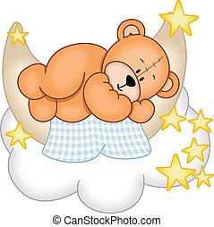dolce, fare un sogno, orso, teddy