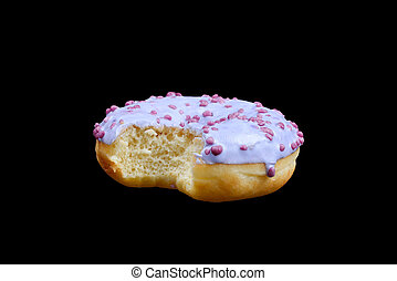 dolce, saporito, isolato, white., donut