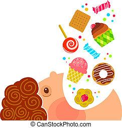dolci, mangiare