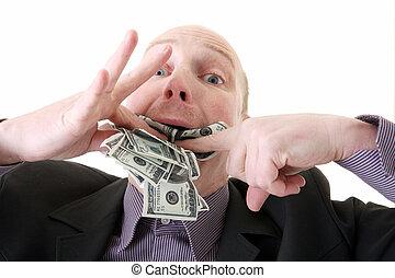dollari, consumare, avarizia, avidità