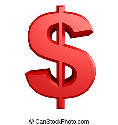 dollaro, iillustration, segno