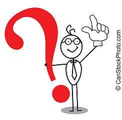 domanda, affari, marchio, attenzione