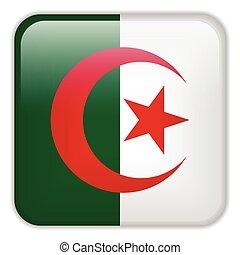 domanda, bandiera, smartphone, algeria