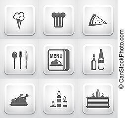 domanda, buttons:, squadra triangolo, ristorante