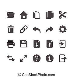 domanda, glyph, toolbar, icone