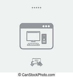domanda, icona computer