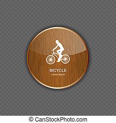 domanda, legno, bicicletta, icone