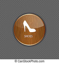 domanda, legno, scarpe, icone