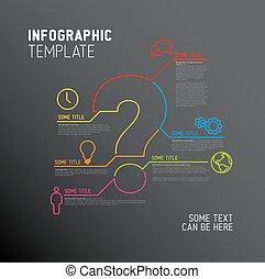 domanda, sagoma, relazione, marchio, vettore, infographic