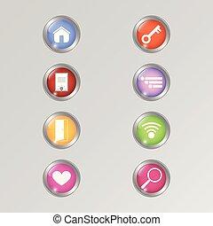 domanda, set, bottone, sito web, disegno, baluginante, app, icona